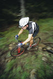 Man mountain biking Royalty Free Stock Photos