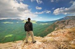 Man in mountain Stock Photos