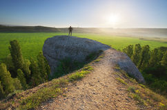 Man in mountain. Royalty Free Stock Images