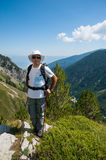 Man on Mountain Pirin Royalty Free Stock Images