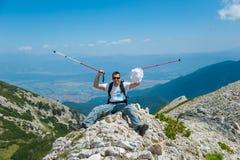 Man on Mountain Pirin royalty free stock photography