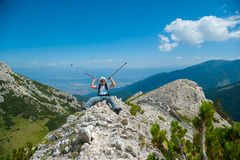 Man on Mountain Pirin Royalty Free Stock Photo