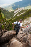 Man on Mountain Pirin Royalty Free Stock Image