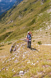Man on Mountain Pirin Royalty Free Stock Photos