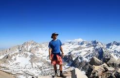 Man on mountain top Royalty Free Stock Photo