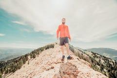 man on the mountain royalty free stock image