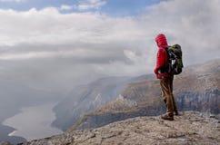 Man in mountains Royalty Free Stock Image