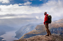 Man in mountains,  Norway Royalty Free Stock Photography