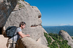 Man in the mountains, Spain royalty free stock photography