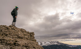Man in the mountains Stock Images