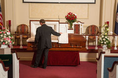 A man mourning Stock Photos