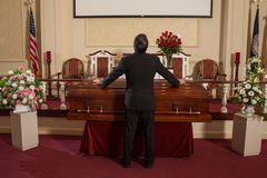 Man mourning. A man mourning before the service Stock Image