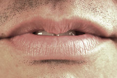 Man Mouth Stock Photography