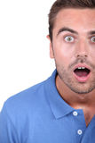 Man with mouth open Royalty Free Stock Photo