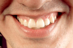 Man Mouth smiling Stock Photography