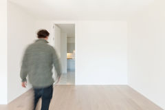 Man in movement Stock Photography