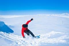 Man moves on snowboard Royalty Free Stock Photos