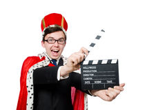 Man with movie clapboard Royalty Free Stock Photos