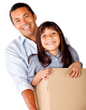 Man moving with his daughter Stock Photo