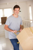 Man moving into new home Royalty Free Stock Photo