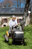 Man mowing the grass Royalty Free Stock Photography