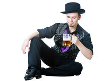 Man with mug of beer Stock Images