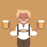 Man with a Mug of Beer in his Hand Stock Photography