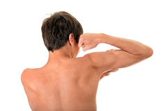 Man Muscle Flexing Stock Images