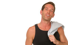Man in muscle shirt Royalty Free Stock Photo