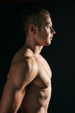 Man with muscles Stock Images