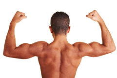 Man with muscular back Royalty Free Stock Photos