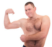 Man with muscular body Royalty Free Stock Photo