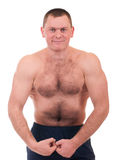 Man with muscular body Royalty Free Stock Images