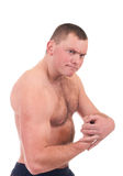Man with muscular body Royalty Free Stock Image