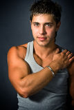 man muscular sexy young Στοκ Εικόνες