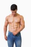 man muscular shirtless Στοκ φωτογραφία με δικαίωμα ελεύθερης χρήσης