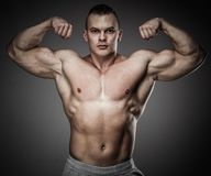 Man with muscular torso Royalty Free Stock Photo