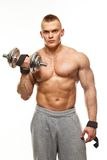 Man with muscular torso posing Stock Images