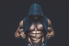 Man with muscular torso. Strong Athletic Men Fitness Model Stock Photos