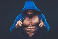 Man with muscular torso. Strong Athletic Men Fitness Model Royalty Free Stock Image