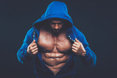 Man with muscular torso. Strong Athletic Men Fitness Model Torso Royalty Free Stock Images