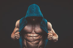 Man with muscular torso. Strong Athletic Men Fitness Model Torso Royalty Free Stock Photo