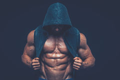 Man with muscular torso. Strong Athletic Men Fitness Model Torso Royalty Free Stock Photography