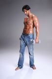 man muscular workout Στοκ Φωτογραφία