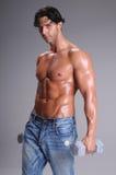 man muscular workout Στοκ φωτογραφία με δικαίωμα ελεύθερης χρήσης