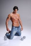 man muscular workout Στοκ Εικόνα