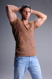 man muscular young στοκ φωτογραφίες με δικαίωμα ελεύθερης χρήσης