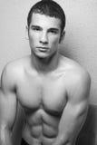 man muscular young Στοκ Φωτογραφία