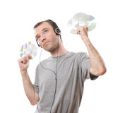 Man and music Royalty Free Stock Photography