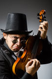 The man in musical art concept Stock Image
